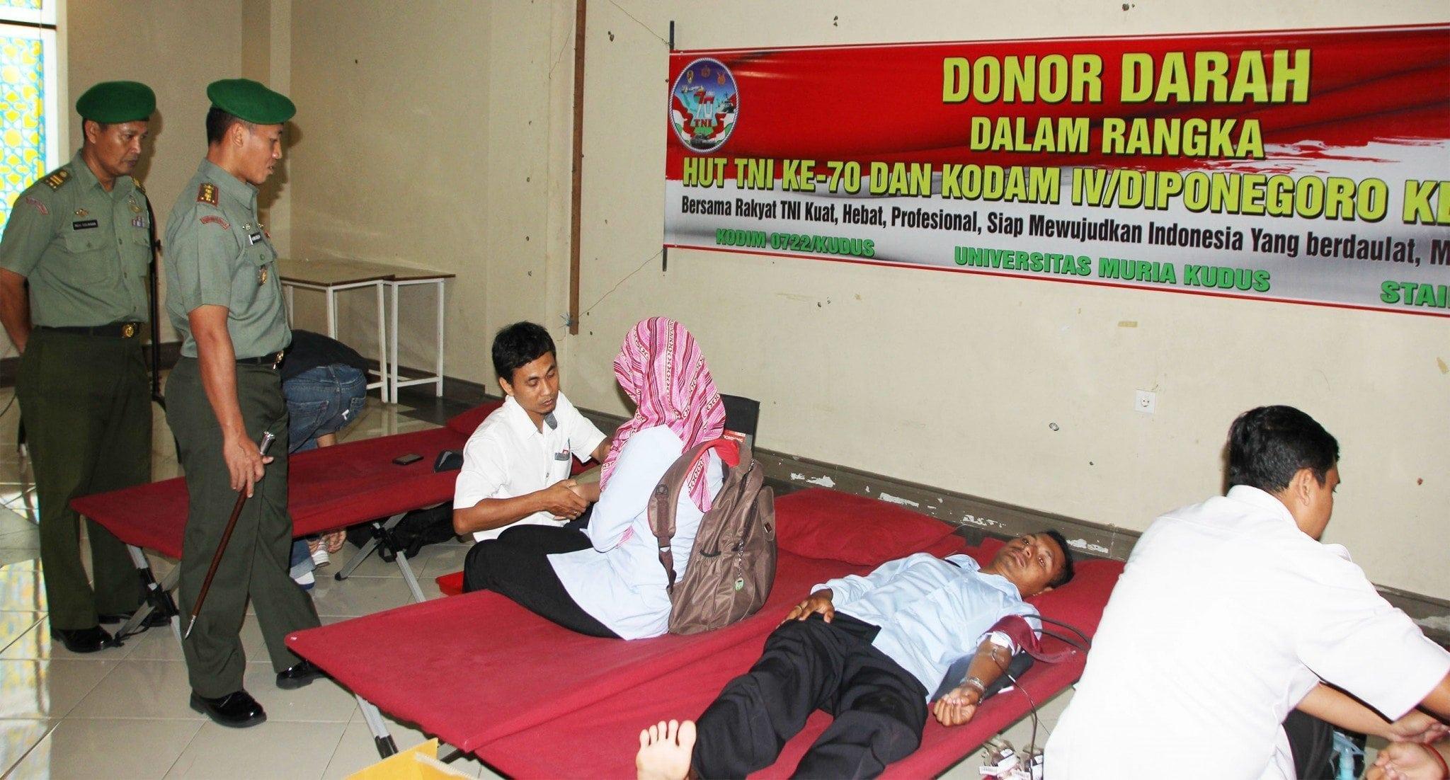Kodim Kudus Tanamkan Jiwa Sosial Generasi Muda Dengan Donor Darah