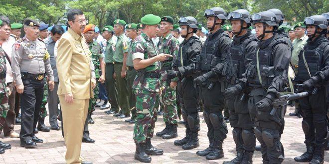 Pangdam I/BB Pimpim 4129 Personel Apel Gelar Pasukan Pengamanan VVIP Kunker Presiden