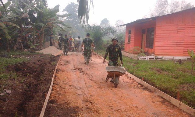 TMMD Ke-95 di Wilayah Kodim 0301/Pekanbaru Adalah Salah Satu Wujud Operasi Bhakti TNI AD