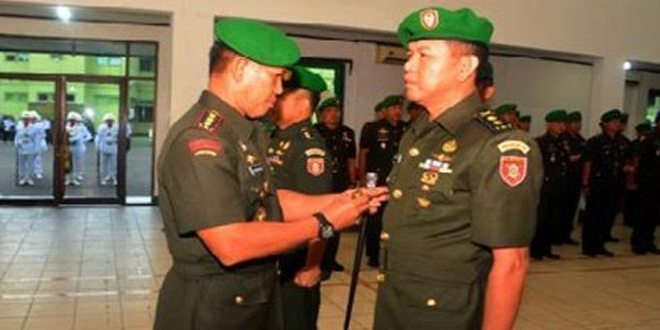 Acara Laporan Korps Serah Terima Jabatan dan Tradisi Kasrem 101/Ant