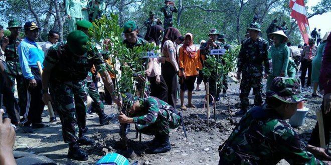 Kodim Bangkalan Canangkan Penanaman Pohon Mangrove