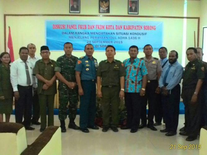 Kasi Ter Korem 171/PVT hadiri diskusi panel FKUB Dan FKDM Sorong
