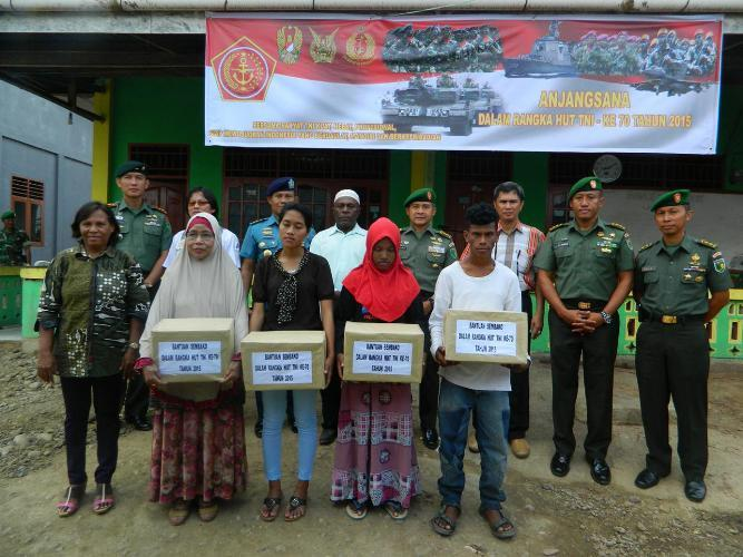 Kasrem 171/Pvt Pimpin Acara Anjangsana Peringati HUT Ke-70 TNI