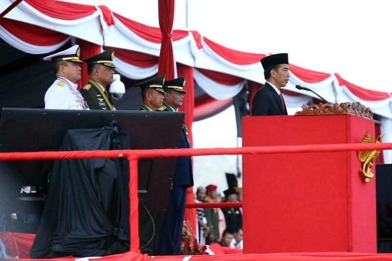 Presiden Irup Peringatan ke-70 Hari TNI di Banten
