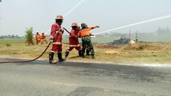 JOB-PPEJ Bersama PKDB Dan Kodim 0813 Bojonegoro Melakukan Simulasi Penanggulangan Bencana