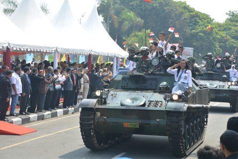 HUT TNI Ke- 7O Berlangsung Meriah