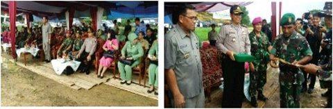 Pj.Bupati Berau Pimpin Upacara Penutupan TMMD Ke- 95