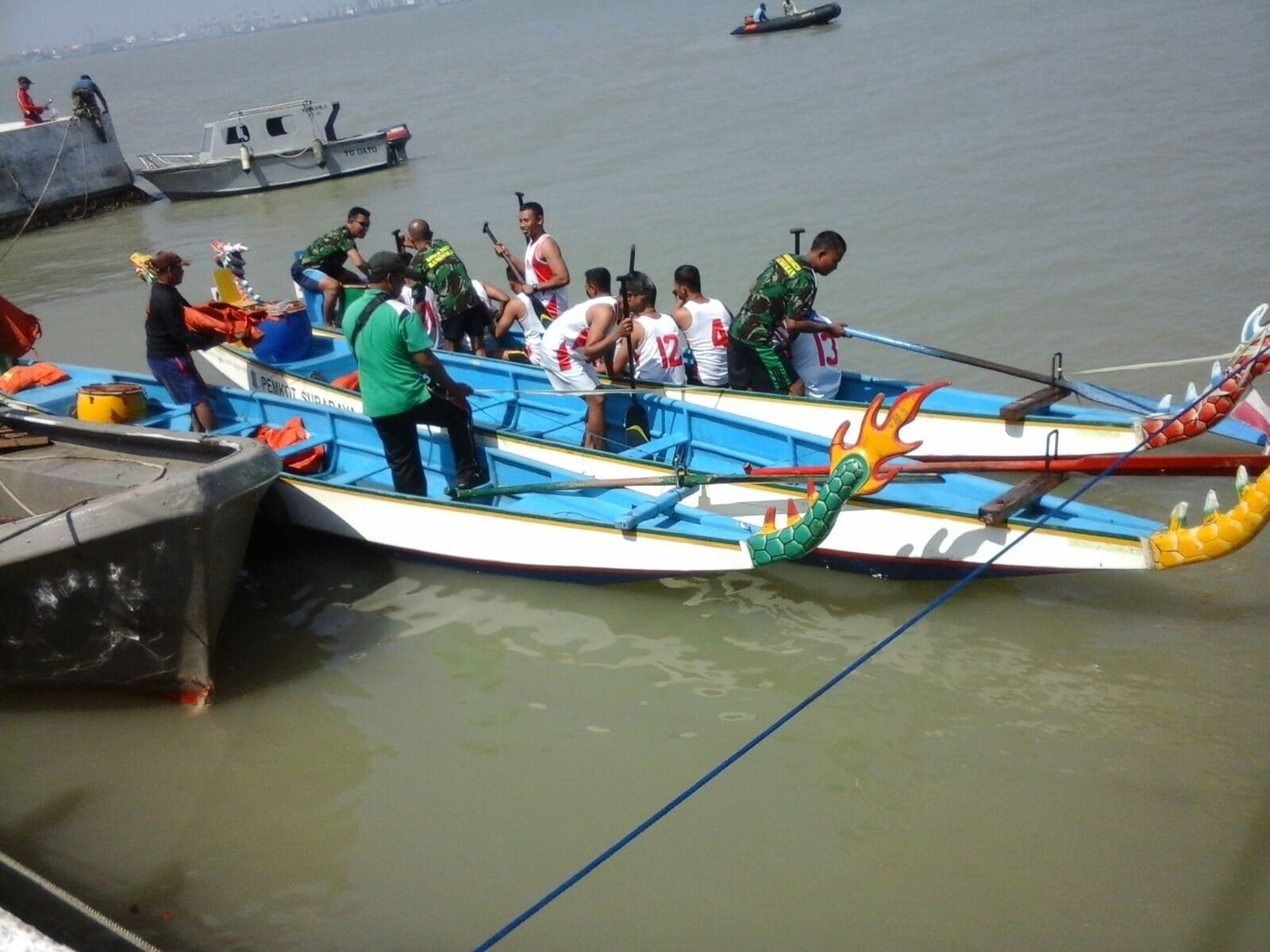 Dandim Bangkalan : Arena Lomba Perahu Naga Bentuk Watak, Disiplin dan Sportifitas