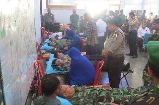 Bhakti Sosial Pengobatan Massal dan Donor Darah dalam rangka HUT TNI ke 70