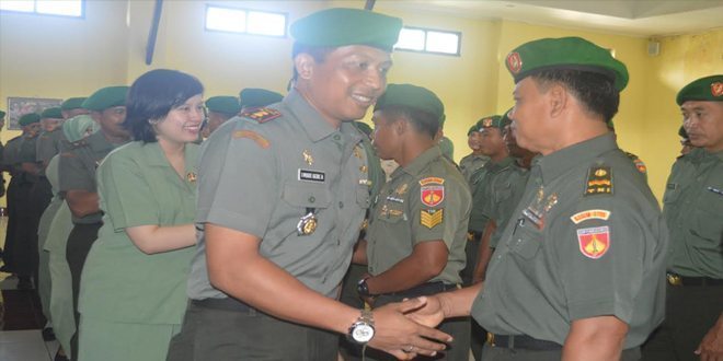 Empat Puluh Prajurit Kodim 0705/Magelang Naik Pangkat