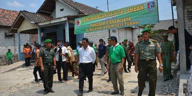 Pangdam V/Brw Canangkan Sejuta Jamban di Tuban