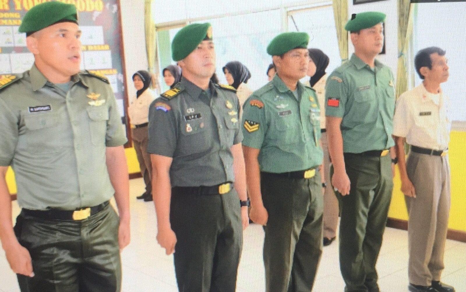 Kapendam Jaya Terima Laporan Korps Kenaikan Pangkat Anggota Pendam Jaya
