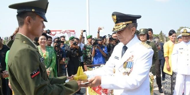 Peringatan Ke-70 Hari TNI tahun 2015 di Kodam IX/Udayana