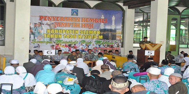 Dandim 0732/Sleman Sambut Kedatangan Jamaah Haji