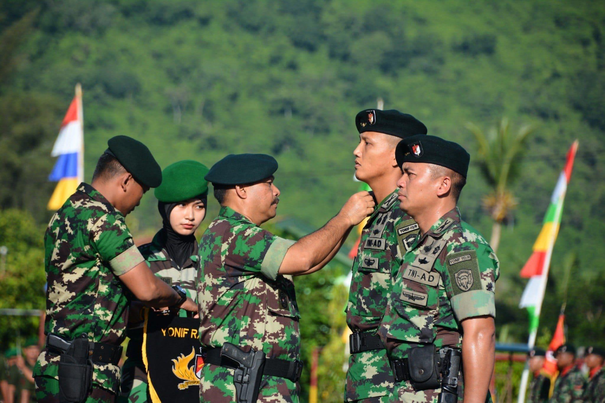 Danyonif Raider 112/Dharma Jaya di Serahterimakan