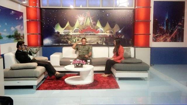 Danrem 043/Gatam Dialog Interaktif Di TVRI SPK Lampung