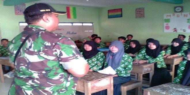 Jajaran Kodim 0829/Bangkalan Giat Sampaikan Wawasan Kebangsaan di Sekolah