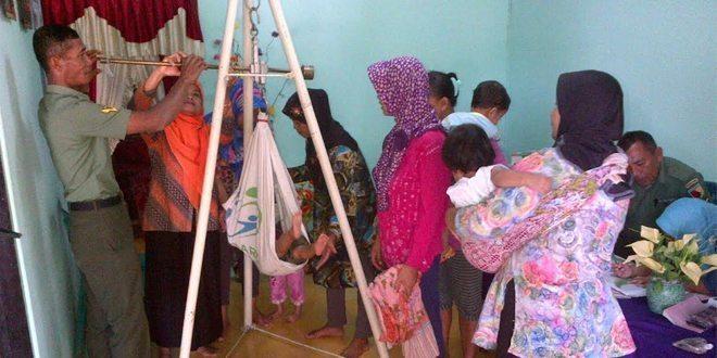 Dinkes Gandeng Kodim Ngawi Sosialisasikan Gerdu Lesung