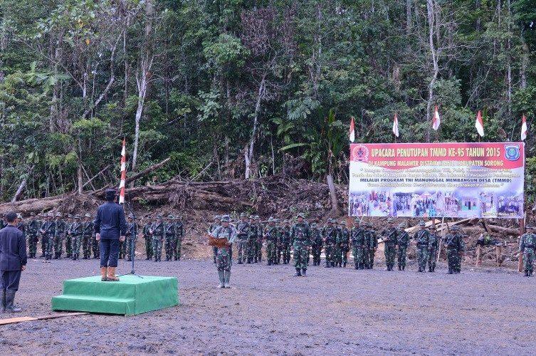 Penutupan Tentara Manunggal Membangun Desa Ke-95 Tahun 2015 Kodim 1704/Sorong