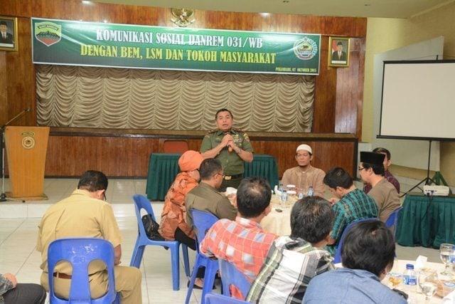 Danrem 031/Wirabima Silaturahmi Dengan Komponen Masyarakat Provinsi Riau