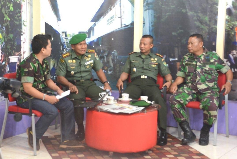 Talk Show Danrem 063/Sgj Dalam Rangka HUT TNI Ke-70