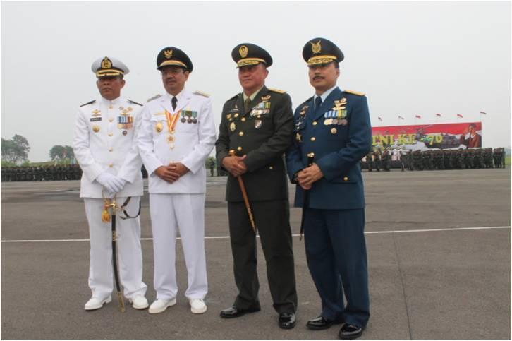 Pangdam I/BB Hadiri Upacara Peringatan HUT ke-70 TNI Tahun 2015