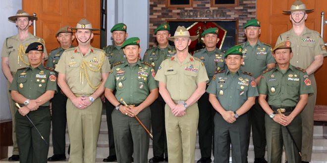Dankodiklat TNI AD Sambut Kunjungan Delegasi Angkatan Darat Australia