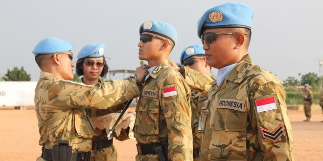110 Prajurit GarudaNaik Pangkat di Darfur Sudan