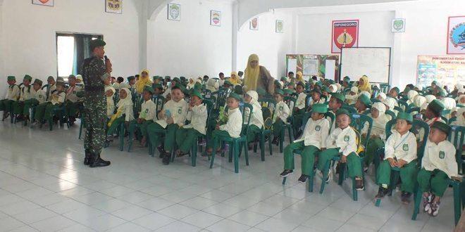 Siswa TK Kunjungi Kodim
