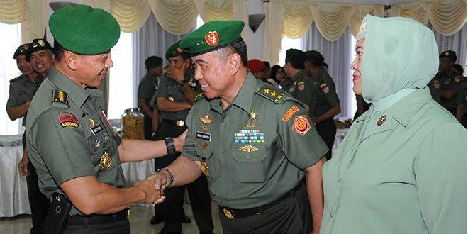 Kasad Terima Laporan Korp Kenaikan Pangkat 6 Perwira Tinggi TNI AD