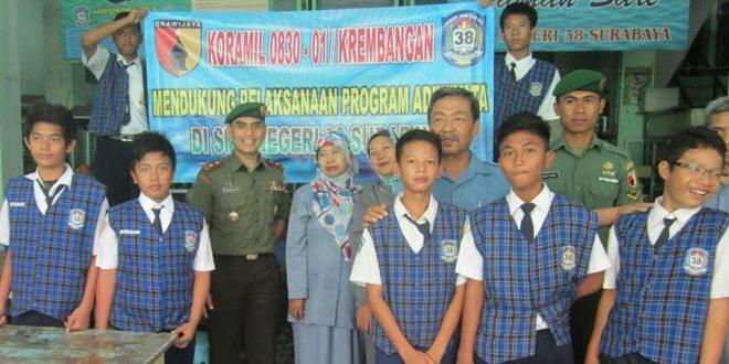 SMPN 38 Surabaya Gandeng Koramil Krembangan, Songsong Adiwiyata