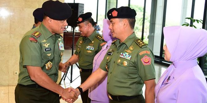 12 Perwira Tinggi TNI Naik Pangkat