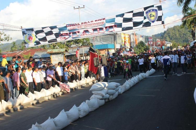 Meriahkan HUT ke-70 TNI Kodim 1705/PN Gelar Kejuaraan Drag Bike