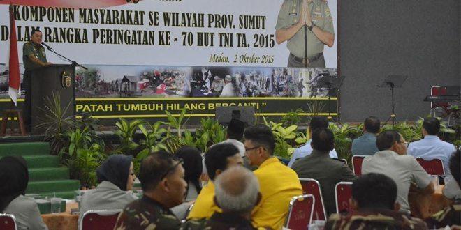 Pangdam I/BB Sarasehan Bersama Komponen Masyarakat Se-Wilayah Provinsi Sumut