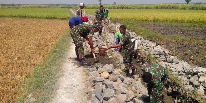 Swasembada Pangan, Kodim Ngawi Bersama Masyarakat Giat Perbaiki Saluran Irigasi Tersier