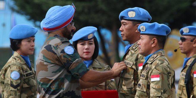 Kontingen Garuda 2015 Menerima Penghargaan UN Medal