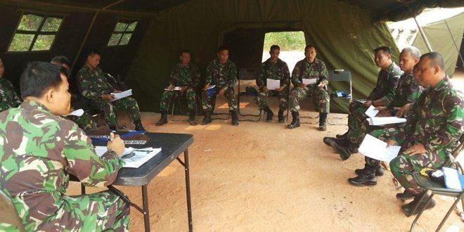 Yonif 141/AYJP Laksanakan Latihan UST Tingkat Kompi