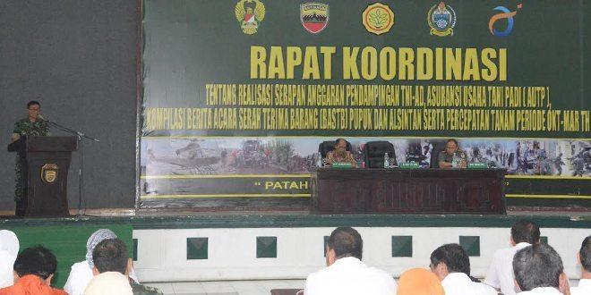 Pangdam I/BB Buka Rapat Koordinasi RSAP TNI AD, AUTP Dan Kompilasi BASTP Pupuk Dan Alsinta
