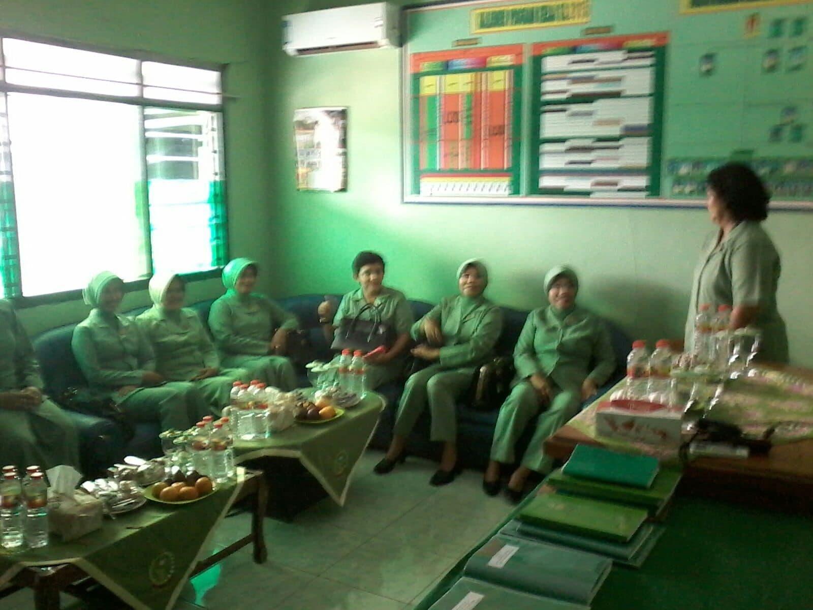 Giliran Koramil Tanah Merah Bangkalan, Dikunjungi Ketua Persit
