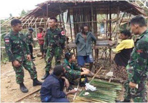Satgas Yonif 600/Raider Temukan Perkampungan Baru Saat Patroli Patok