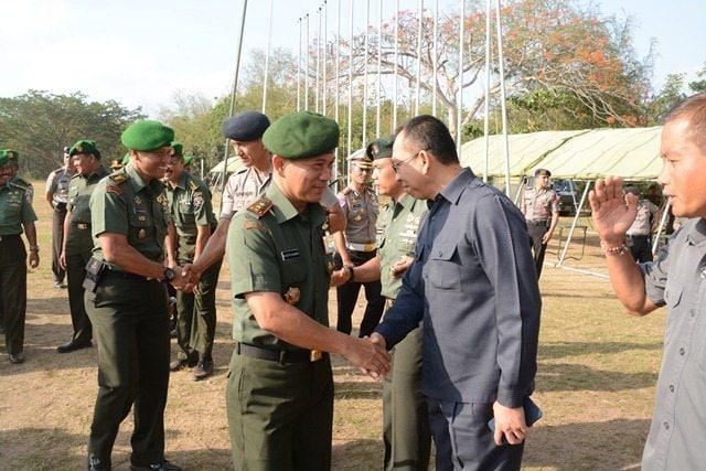 Kodam IX/Udayana Gelar Apel Pengamanan VVIP Kunjungan Wapres India