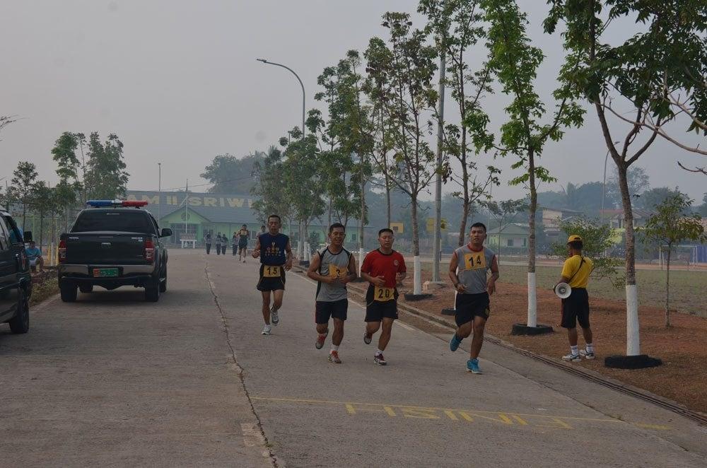 Korem 044/Gapo Melaksanakan Samapta Periodik Semester II 2015