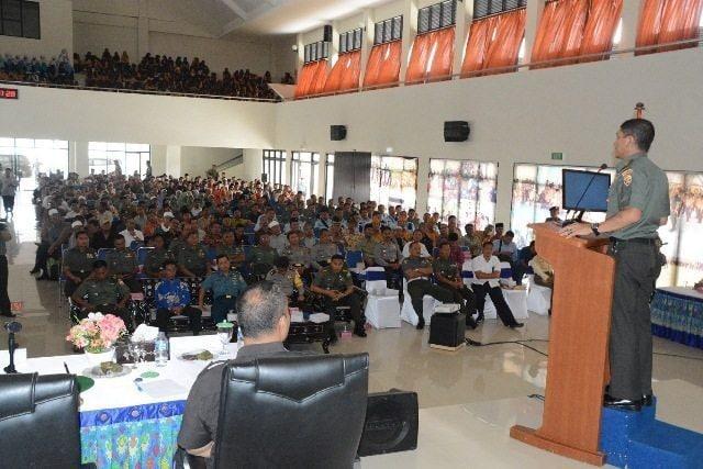 1.200 Peserta Hadiri Komsos TNI Yang Digelar Korem 162/WB