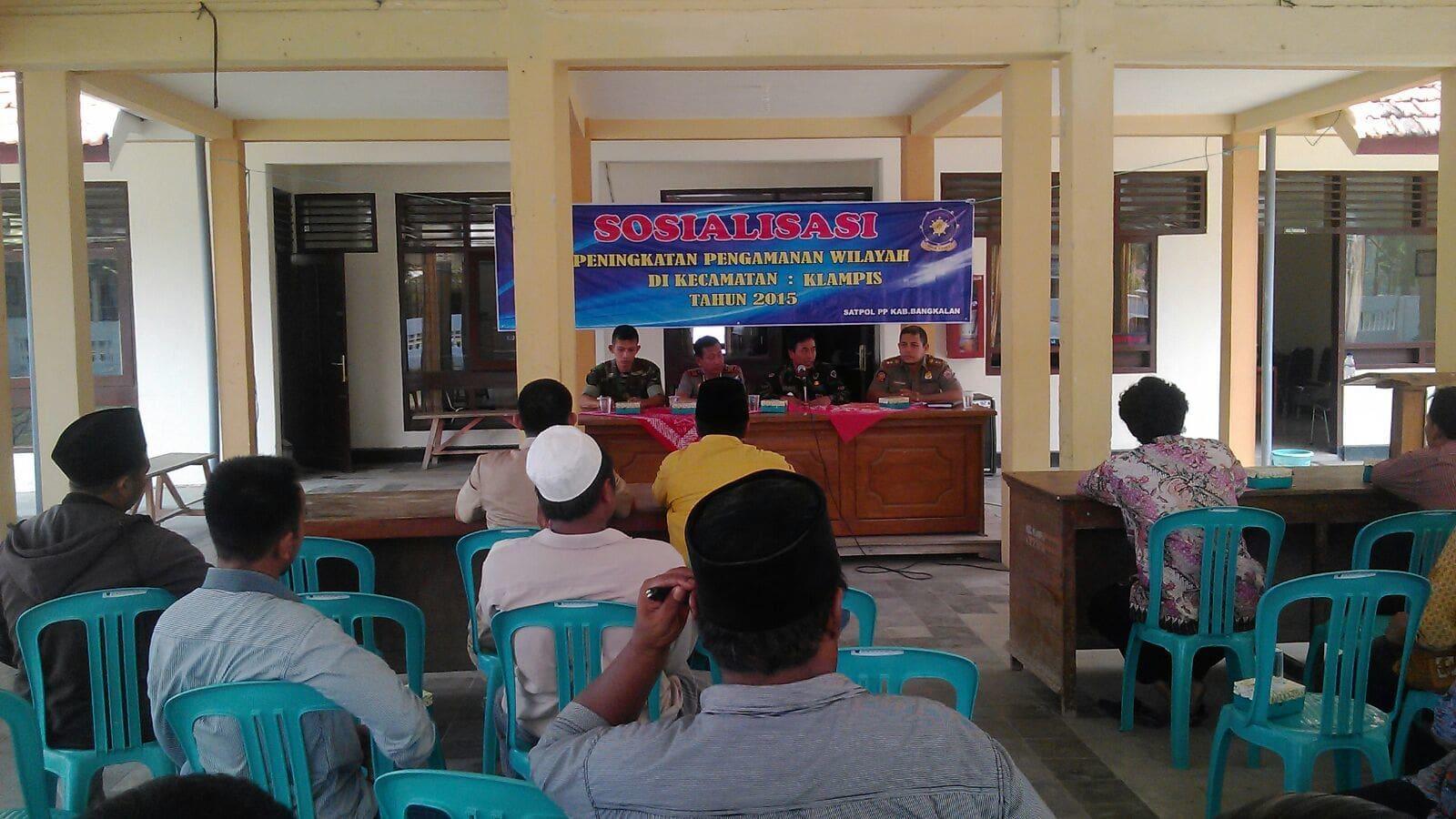 Koramil Klampis Sosialisasikan Peran TNI AD di Bangkalan