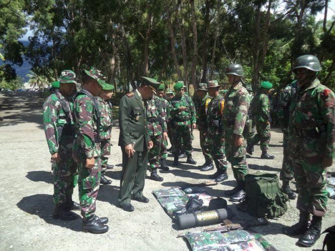 Latihan Berganda Tamtama Infanteri Kodam XVII/Cenderawasih