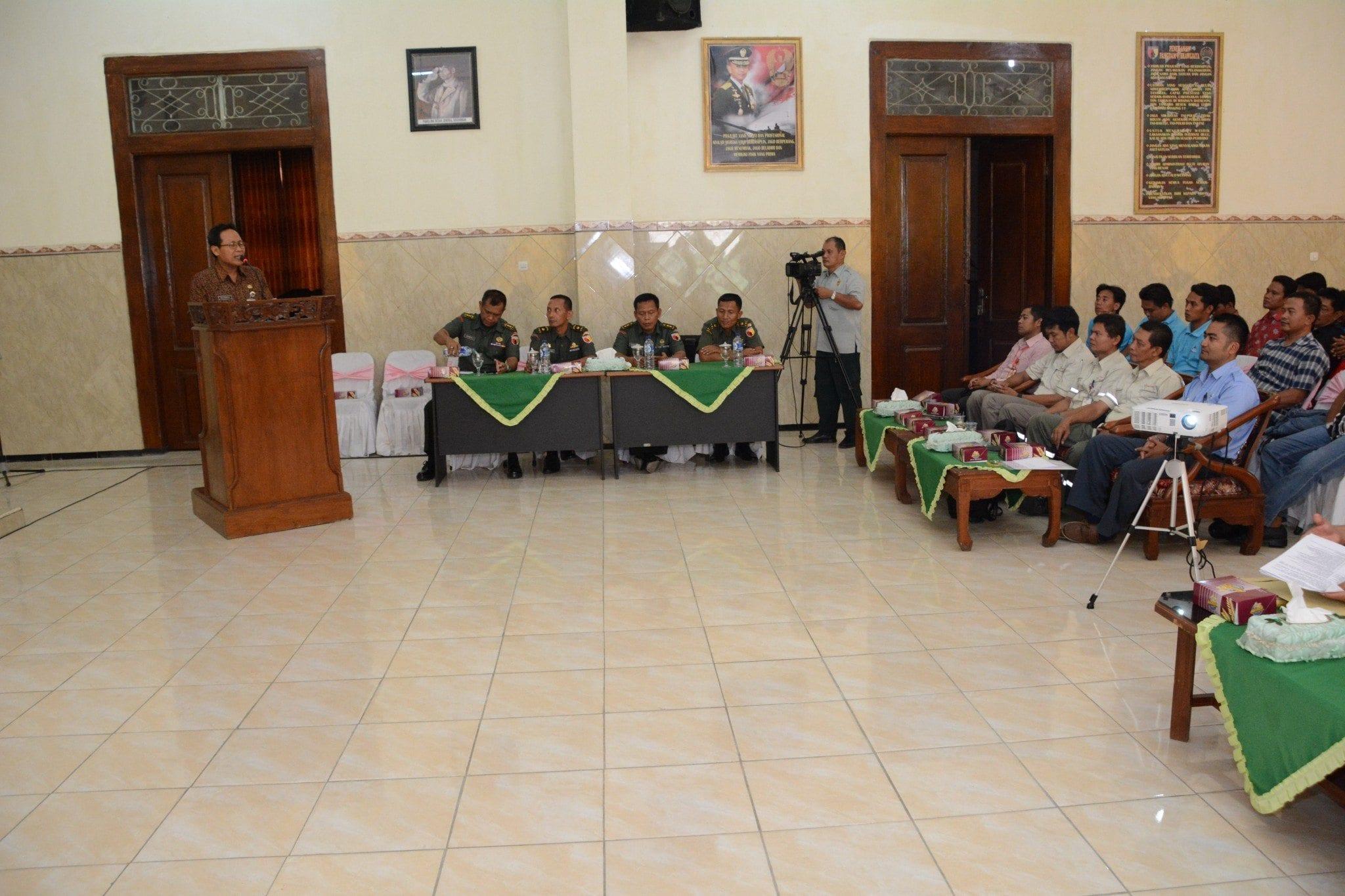 Silaturrahmi Danrem 082/CPYJ dengan Pengurus Unit Kerja Perusahaan se – Mojokerto