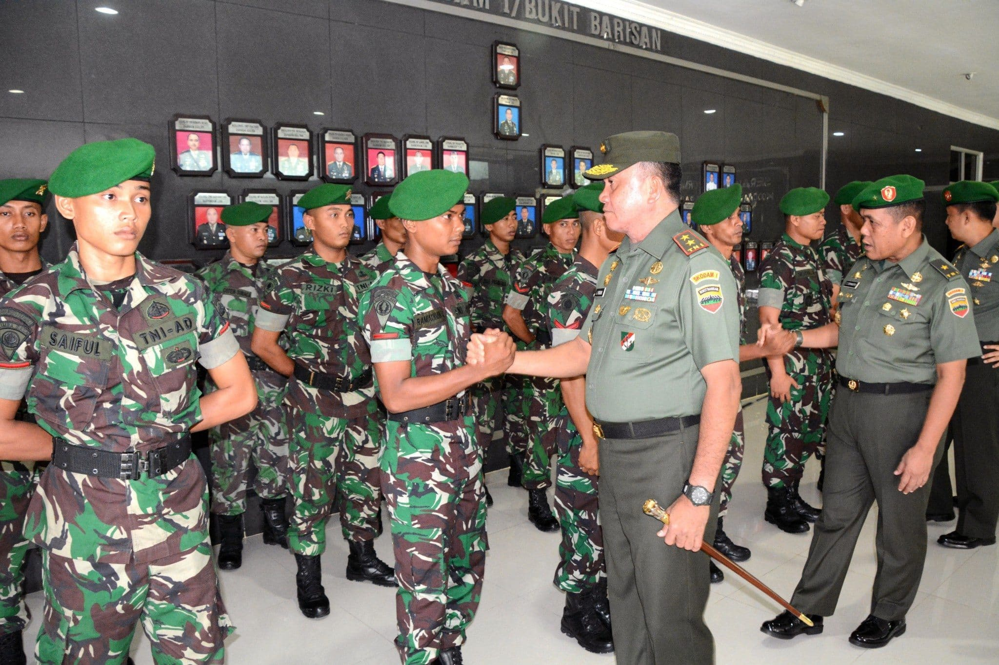 Pangdam I/BB Berangkatkan Kontingen Lomba Peleton Tangkas