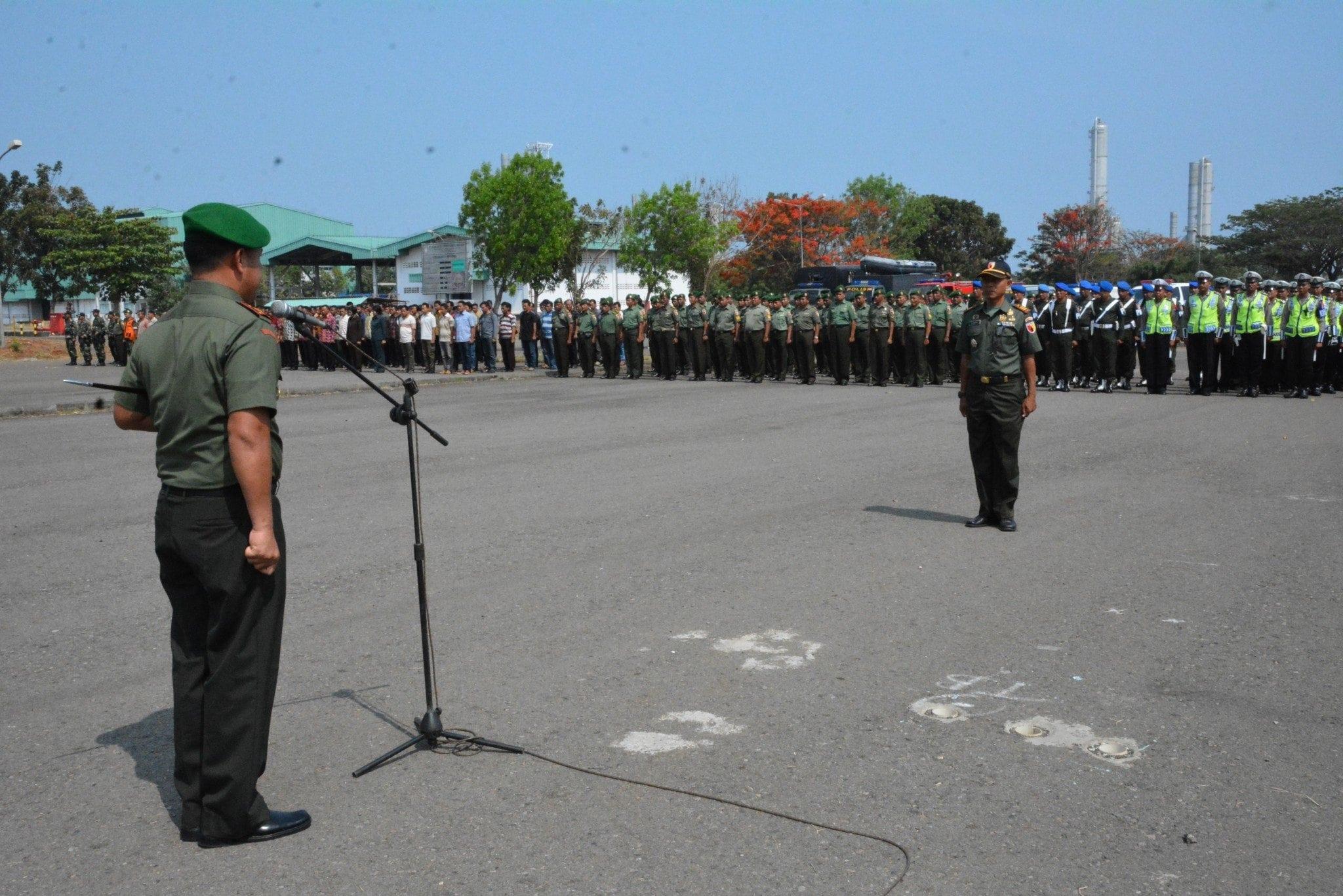Gelar Pasukan Pengamanan Kunker Presiden RI di Trans Pasific Petrocemical Indotama Tuban