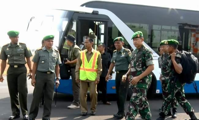 Kasrem 043/Gatam Terima Kunjungan Kerja Dankodiklat TNI AD Ke Puslatpur Martapura