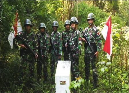 Satgas Pamtas RI-RDTL Yonarmed 11 Kostrad Melaksanakan Pengamanan Di Wilayah Perbatasan RI-RDTL Sektor Barat